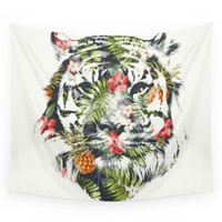 Society6 Tropical Tiger Wall Tapestry