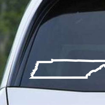 Tennessee State Outline TN - USA America Die Cut Vinyl Decal Sticker