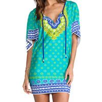 Trina Turk Seychelles Tunic Cover Up in Green