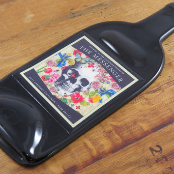 The Messenger Cabernet Slumped Wine Bottle Cheese Tray
