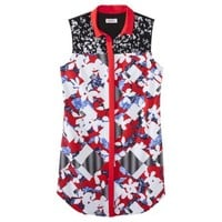 Peter Pilotto® for Target® Shirt Dress -Red Floral Print
