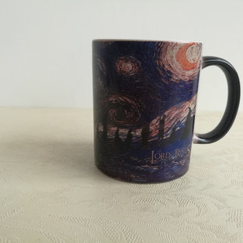 The lord of the rings mugs coffee mugs transforming mug heat changing color heat sensitive ceramic Tea Cup Hobbit printed cup