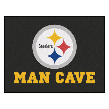Pittsburgh Steelers NFL Man Cave All-Star Floor Mat (34in x 45in)