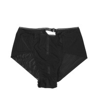 Triangle High Waist Panty- Black