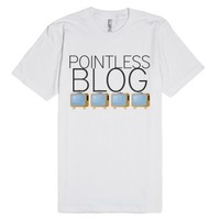 pointless blog tv shirt-Unisex White T-Shirt