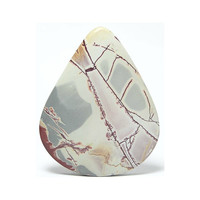Abstract Dendritic Rhyolite Large Pear Shaped Cabochon Natural Stone 84 carats 52 x 40 mm