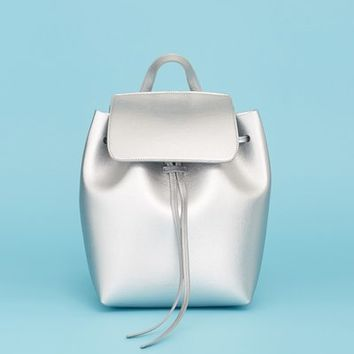 Mansur Gavriel OC-Exclusive Mini Saffiano Leather Metallic Backpack - WOMEN - JUST IN - Bags - Mansur Gavriel