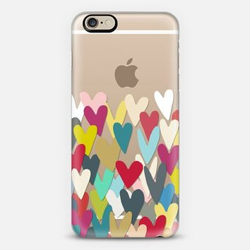 heart confetti transparent iPhone 6s case by Sharon Turner | Casetify
