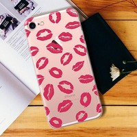 lip print case cover for iphone 7 7 plus iphone se 5s 6 6s plus gift box 2