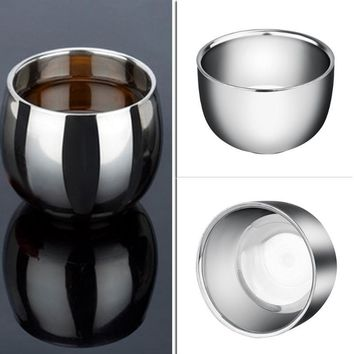 Mini Thickened Mugs Stainless Steel Espresso Coffee Milk Mugs 120/200ML Thermo Frothing Pitcher Steaming Frothing Pitcher