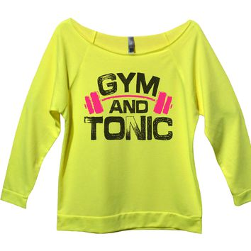 Gym And Tonic Womens 3/4 Long Sleeve Vintage Raw Edge Shirt