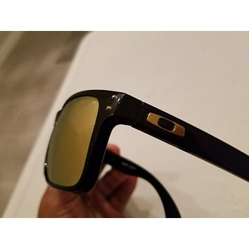 Tagre Oakley Holbrook Sunglasses Polished Black w/ Gold lenses Shaun White