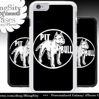 Pitbull Iphone 6 Plus Case Silhouette Love My Pit Bull Dog Iphone 4 4s 5 5C Ipod Touch Cover Terrier