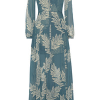 Sass & bide - The Power Hour printed georgette and jacquard maxi dress