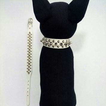 Leather Spiked Collar for Small Dogs