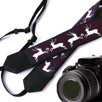 Deer Camera Strap. DSLR / SLR Camera Strap. Camera accessories. Photographer gift. Strap for Canon, Nikon, Fuji, Sony and other cameras.