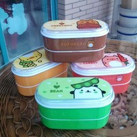 DCCKL72 High Quality Cartoon Healthy Plastic Lunch Box 600ml Bento Boxes Food Container Dinnerware Lunchbox Cutlery with Chopsticks