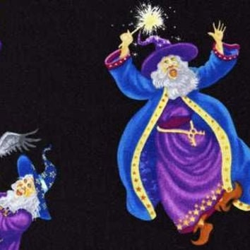 Merlin the Wizard Cotton Fabric Sewing Supplies