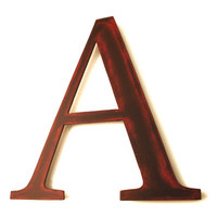 Metal Letter A Sign - Rustic Metal Letter - Metal Wall Letter - Industrial Letter - Decorative Letter - Letter wall Decor - Hanging Letter