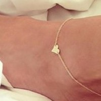 Heart Anklet (2-Pieces)