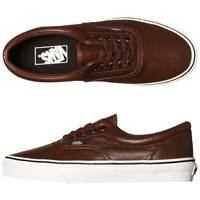 VANS AGED LEATHER ERA SHOE - AGED LEATHER BROWN