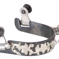 Saddles Tack Horse Supplies - ChickSaddlery.com Kelly Silver Star Bumper Spur with Floral Etching