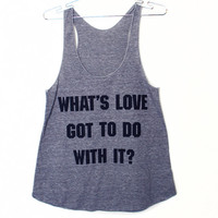 What's Love Tank Top (Select Size)