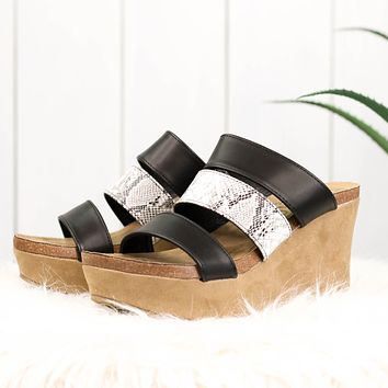 Matisse Gina Wedges in Black