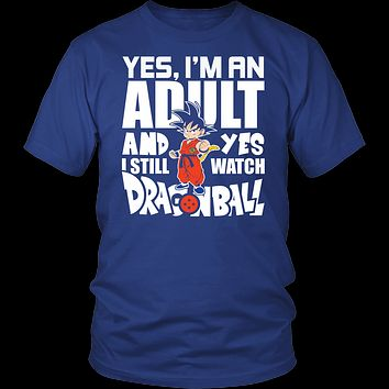 Super Saiyan- yes i m an adult and yes i still watch dragonball - men short sleeve t shirt - TL00999SS