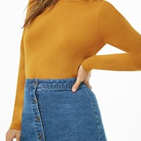 Foldover Turtleneck Top