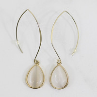 Hoop Dee Do Gold Drop Hoop Earrings