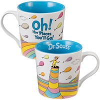 Dr. Seuss Oh The Places You'll Go Ceramic Coffee Mug