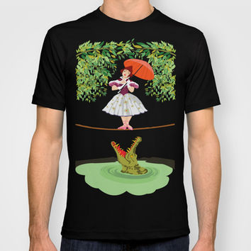 Halloween haunted mansion the girl with the crocodile Tee T-shirt by Three Second