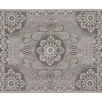 SHIBORI DOT PRINTED INDOOR/OUTDOOR RUG - GRAY