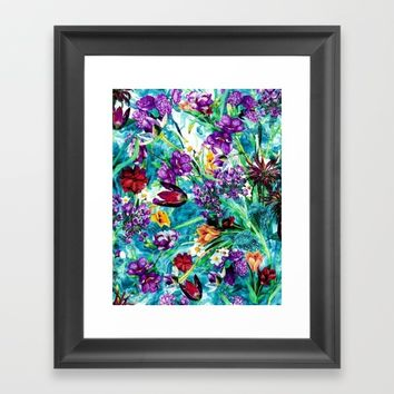 Floral Jungle Framed Art Print by RIZA PEKER