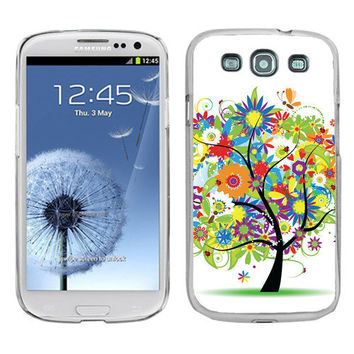 Slim-Fit Hard Cover Case for Samsung Galaxy S3 S-III Colorful Tree