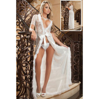 Cute Hot Deal On Sale Sexy V-neck Short Sleeve Patchwork Lace Plus Size Exotic Lingerie [6596714947]