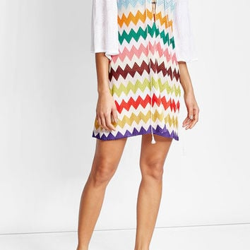 Chevron Lace-Up Tunic - Missoni Mare | WOMEN | US STYLEBOP.COM