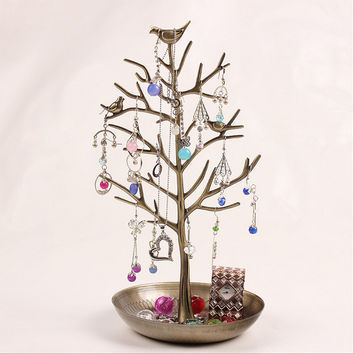 Vintage Tree shape earrings jewelry rack shelf display hanging ornaments