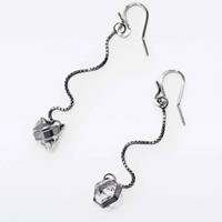 Better Late Than Never Sterling Silver Herkimer Drop Earrings - Urban Outfitters