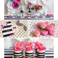 BLACK, WHITE, WITH A POP OF HOT PINK PARTY INSPIRATION
