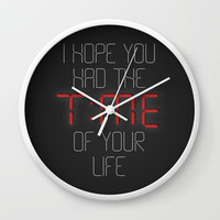 I hope you had the time of your life - Greenday Wall Clock by g-man