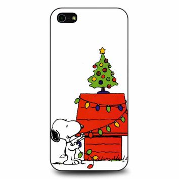 Snoopy Lights Christmas Tree iPhone 5/5s/SE Case