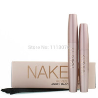 BIG SALE Brand Mascara 3D youniqued FIBER LASHES Love black Waterproof Transplanting Gel&Natural Make Up Cosmetics 2pcs/lot