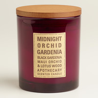 Midnight Orchid Gardenia Glass Tumbler Candle - World Market