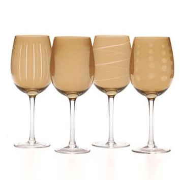 Mikasa® Cheers Wine Glasses in Amber (Set of 4)