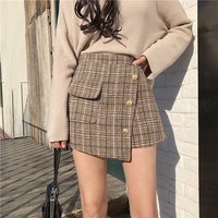 Buy Bloombloom Plaid Mini Skirt | YesStyle