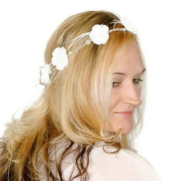 Floral Crown // Bridal Crown // Wedding // by MoJosFreeSpirit