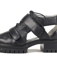 Senso: Daria Black Calf/Grained Kid Bootie