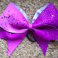 Purple Sequin Cheer Bow by Bowpassion on Etsy